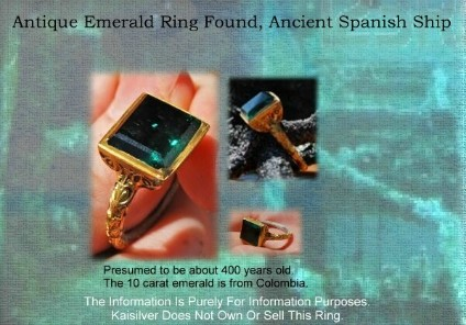 Big emerald ring, antique emerald gold ring with large emerald