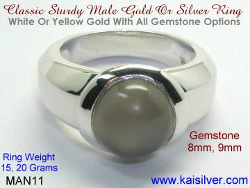 grey moonstone ring