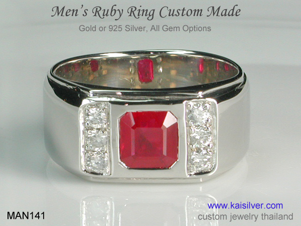 ruby ring for men