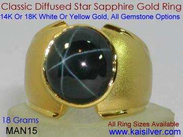 mens star sapphire ring