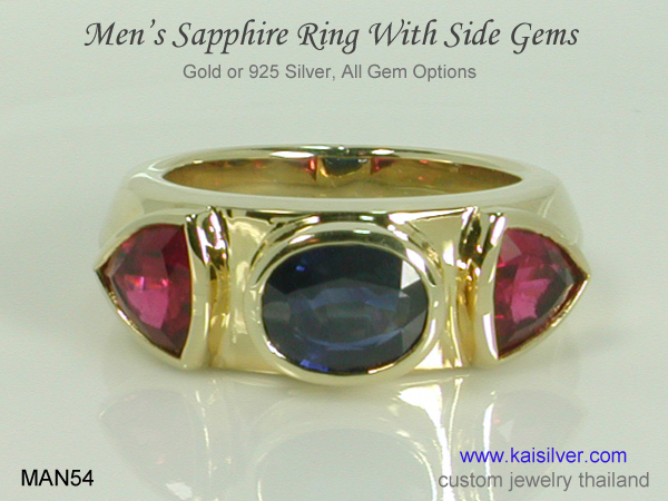men's ring with sapphire