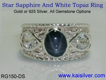 star sapphire silver ring from Kai Silver