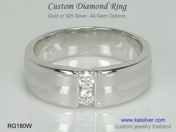 diamond gold or silver rings