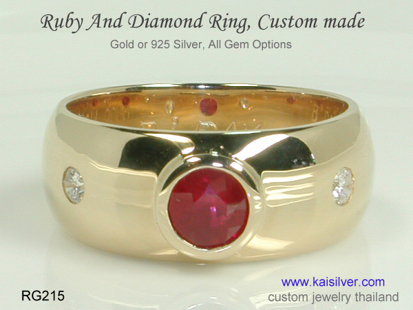 men's ruby band