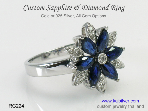 sapphire gold rings thailand