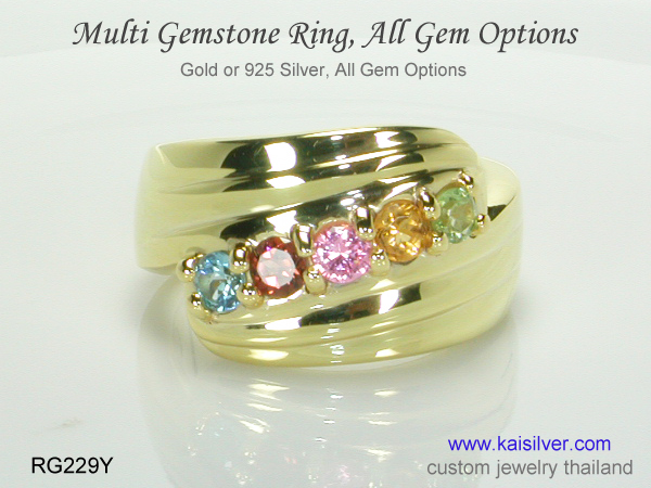 ringswith many gems