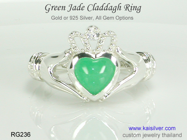 custom claddagh ring